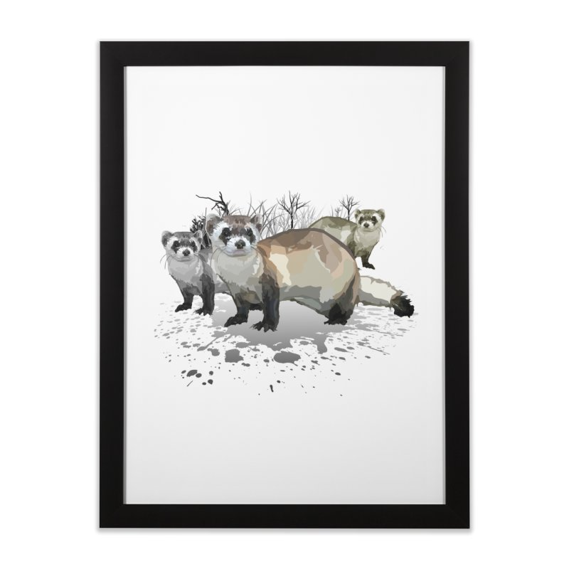 Ferrets Home Framed Fine Art Print by adamzworld's Artist Shop