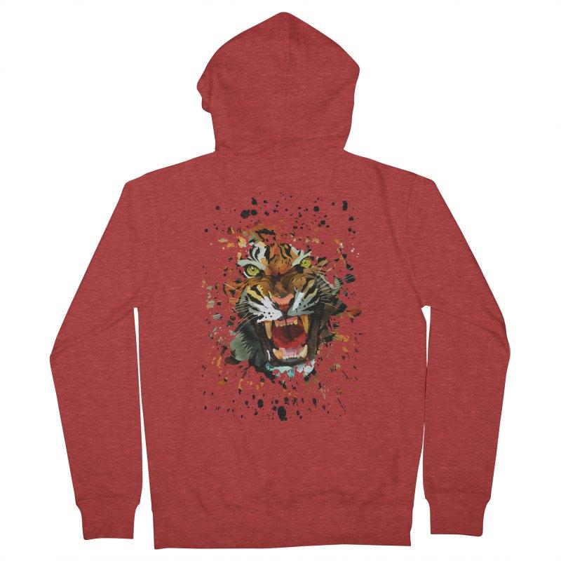 Tiger Roar Men's Zip-Up Hoody by adamzworld's Artist Shop