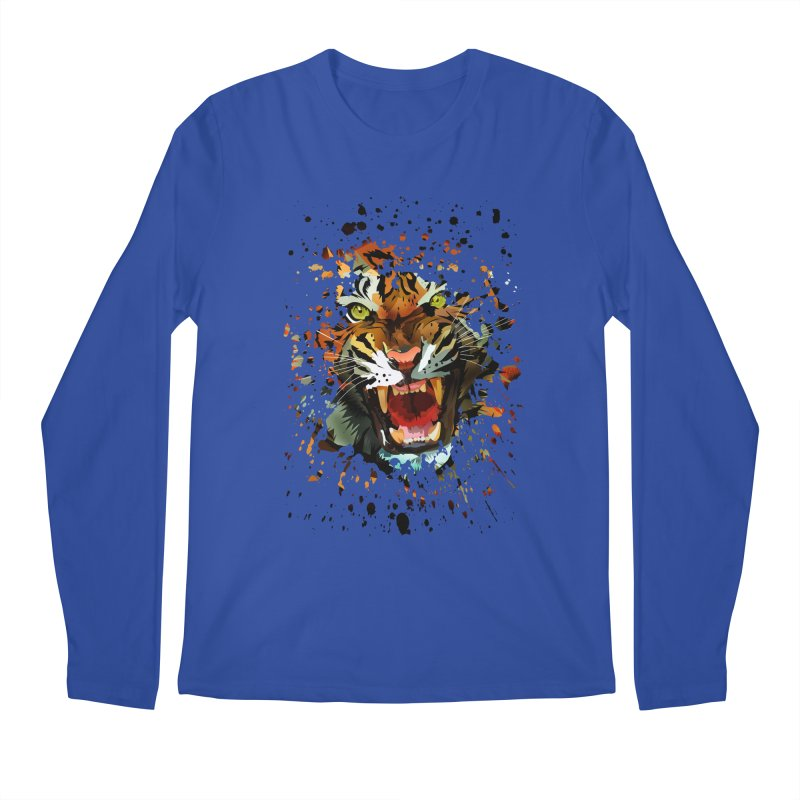 Tiger Roar Men's Longsleeve T-Shirt by adamzworld's Artist Shop