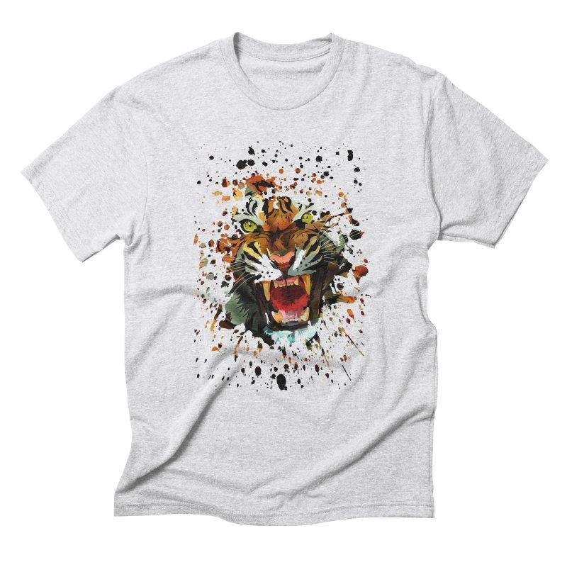 Tiger Roar Men's Triblend T-shirt by adamzworld's Artist Shop