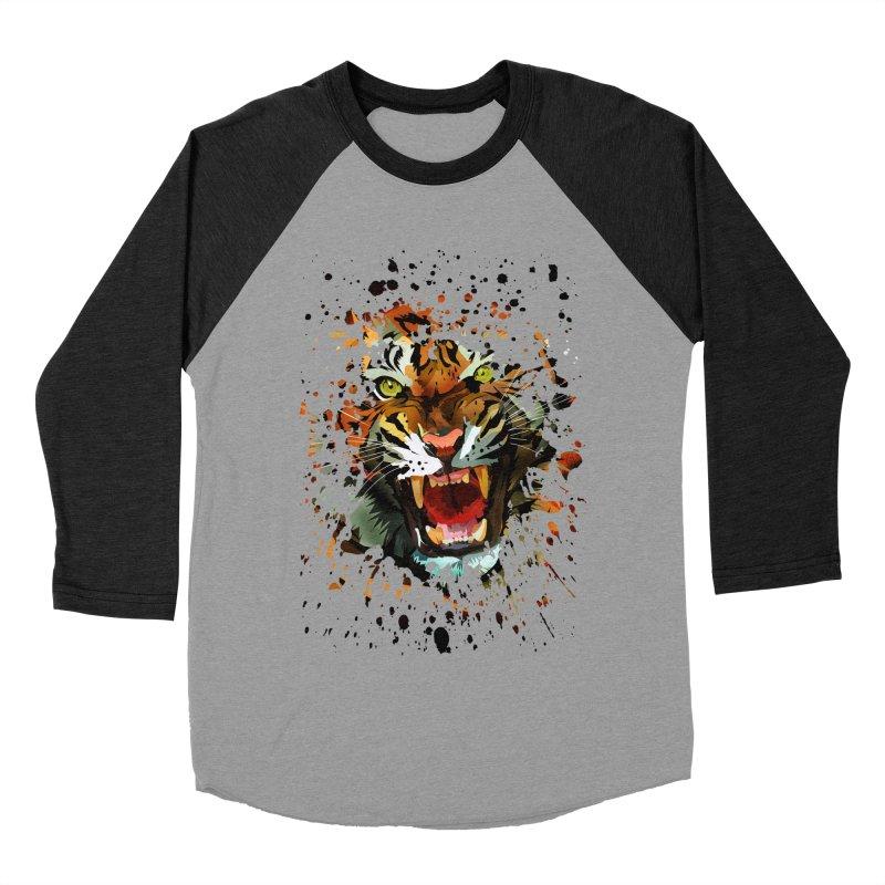 Tiger Roar Women's Baseball Triblend T-Shirt by adamzworld's Artist Shop