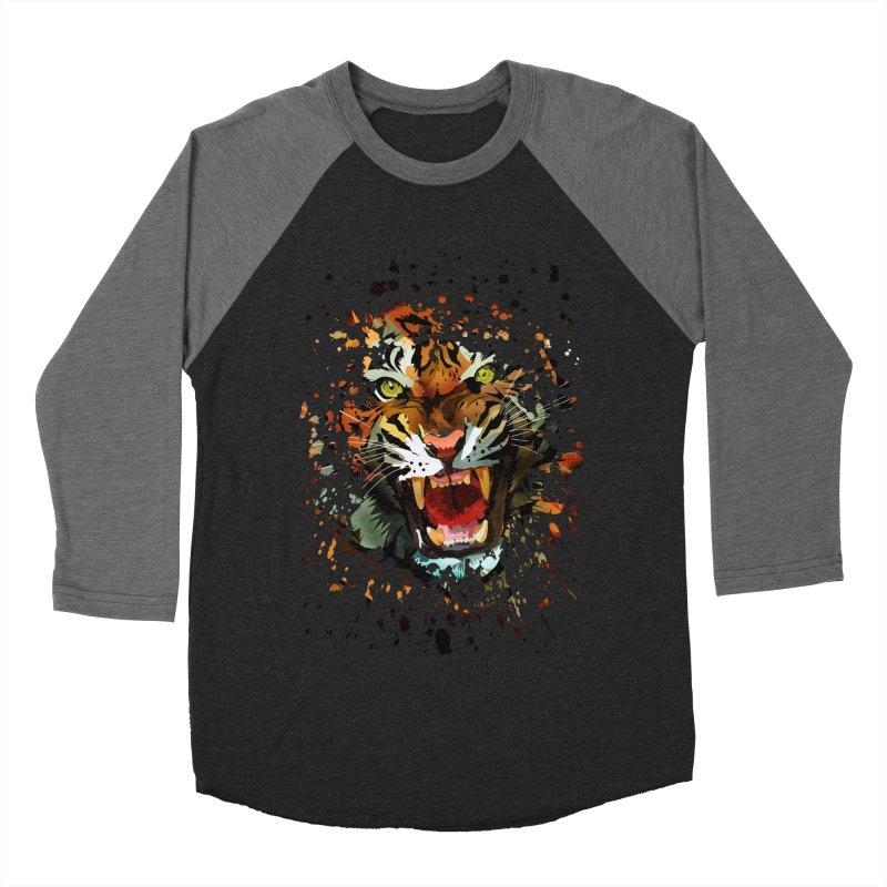 Tiger Roar Men's Baseball Triblend T-Shirt by adamzworld's Artist Shop