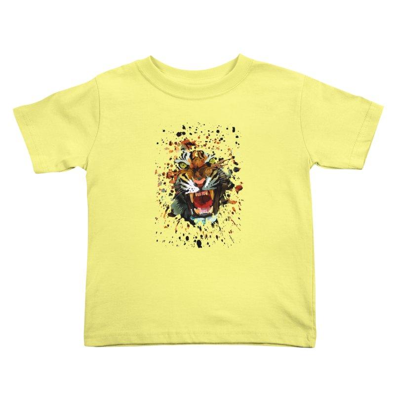 Tiger Roar Kids Toddler T-Shirt by adamzworld's Artist Shop