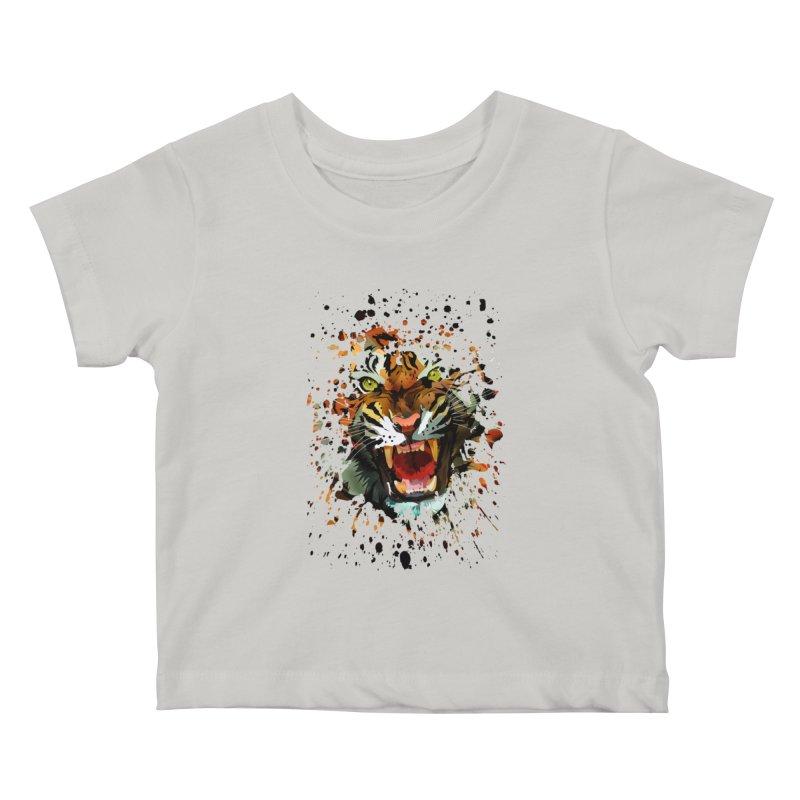 Tiger Roar Kids Baby T-Shirt by adamzworld's Artist Shop