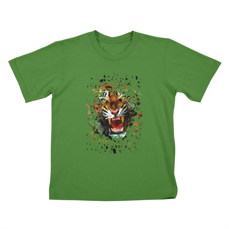 Tiger Roar Kids T-shirt by adamzworld's Artist Shop