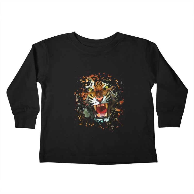 Tiger Roar Kids Toddler Longsleeve T-Shirt by adamzworld's Artist Shop