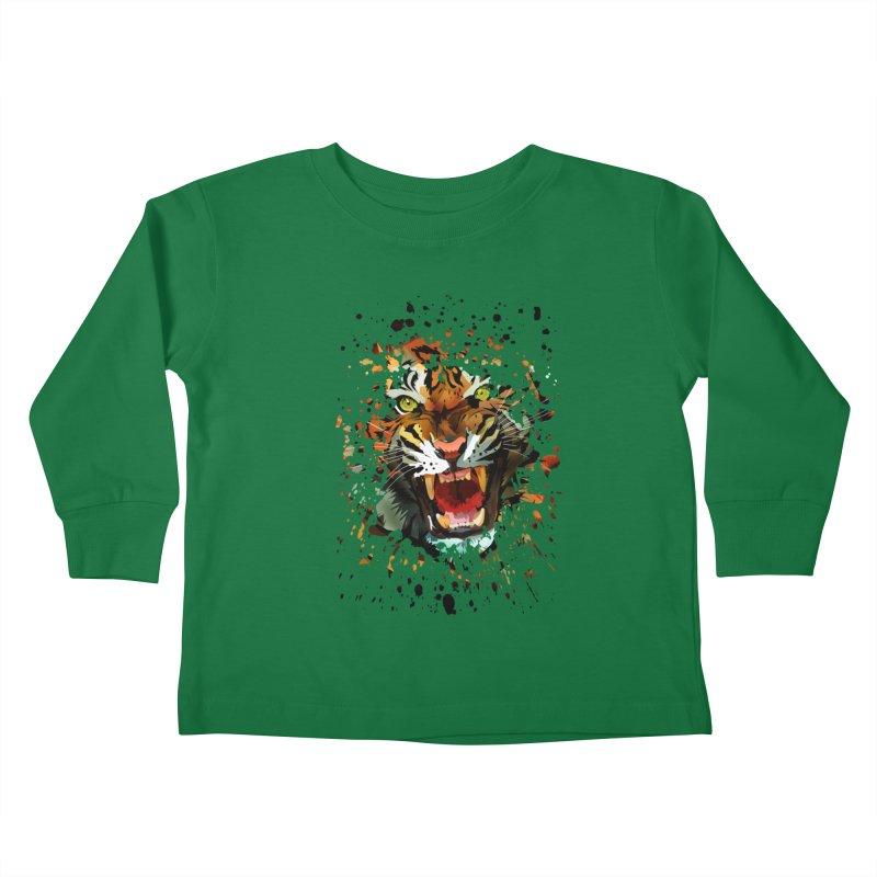Tiger Roar Kids Toddler Longsleeve T-Shirt by adamzworld's Artist Shop
