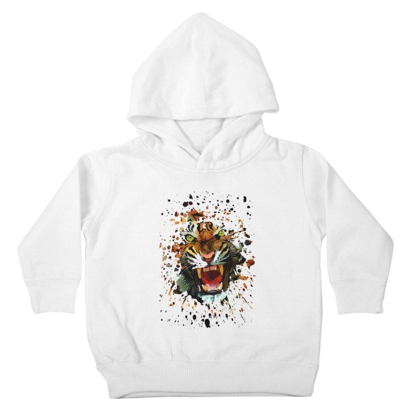Tiger Roar Kids Toddler Pullover Hoody by adamzworld's Artist Shop
