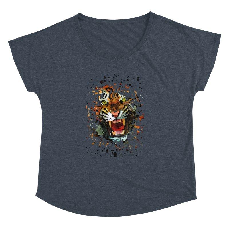 Tiger Roar Women's Dolman by adamzworld's Artist Shop