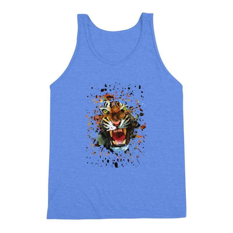 Tiger Roar Men's Triblend Tank by adamzworld's Artist Shop
