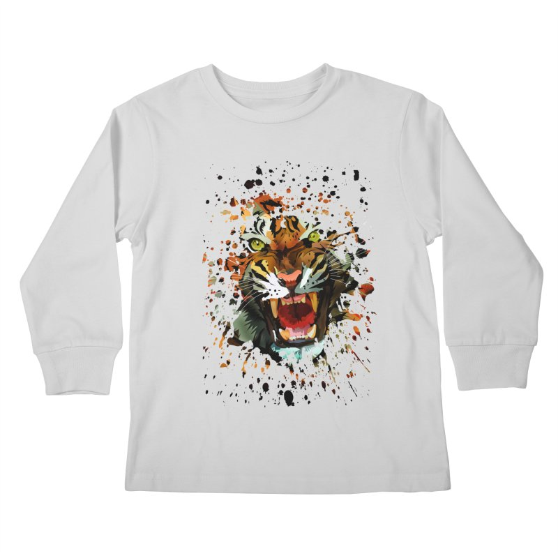 Tiger Roar Kids Longsleeve T-Shirt by adamzworld's Artist Shop
