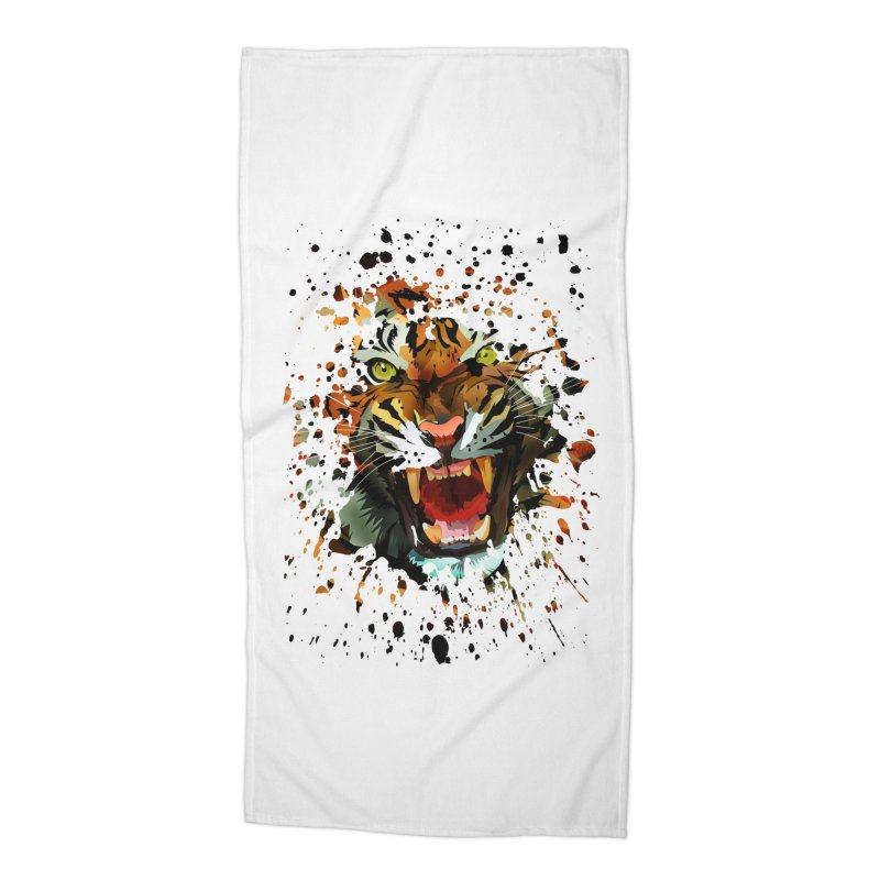 Tiger Roar Accessories Beach Towel by adamzworld's Artist Shop