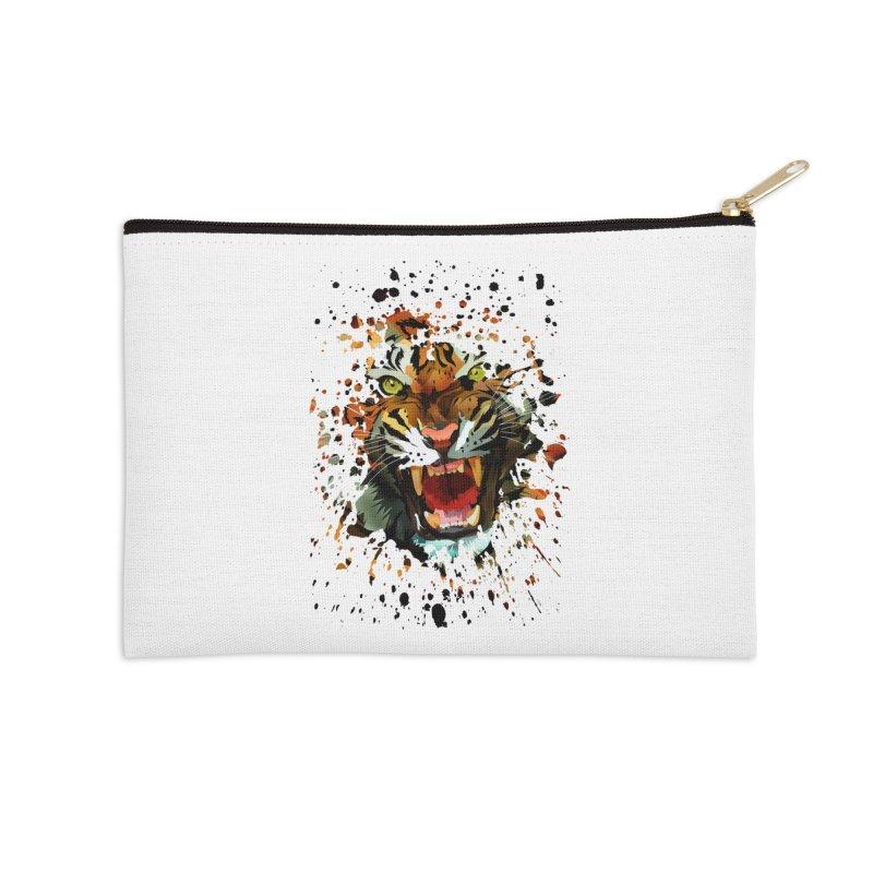 Tiger Roar Accessories Zip Pouch by adamzworld's Artist Shop