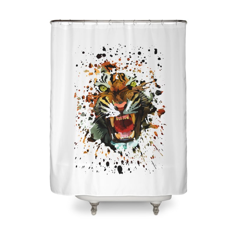 Tiger Roar Home Shower Curtain by adamzworld's Artist Shop