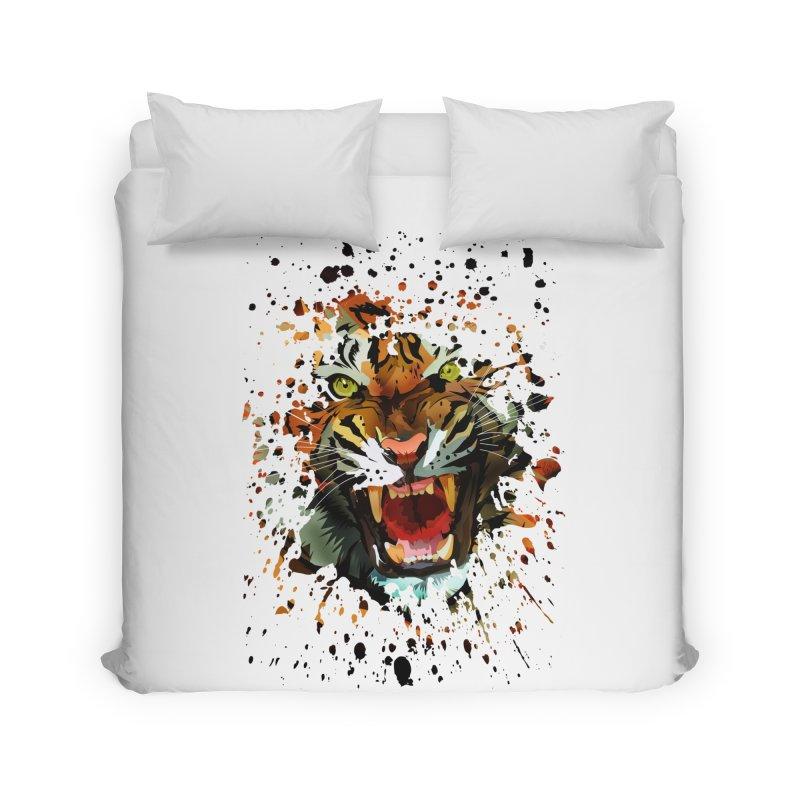 Tiger Roar Home Duvet by adamzworld's Artist Shop