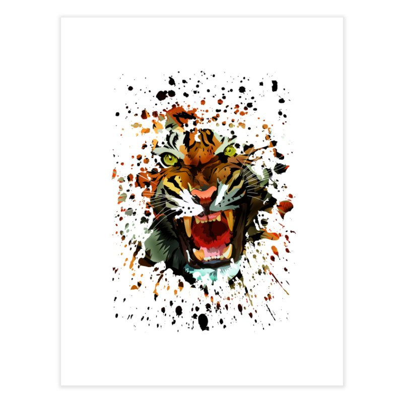 Tiger Roar Home Fine Art Print by adamzworld's Artist Shop