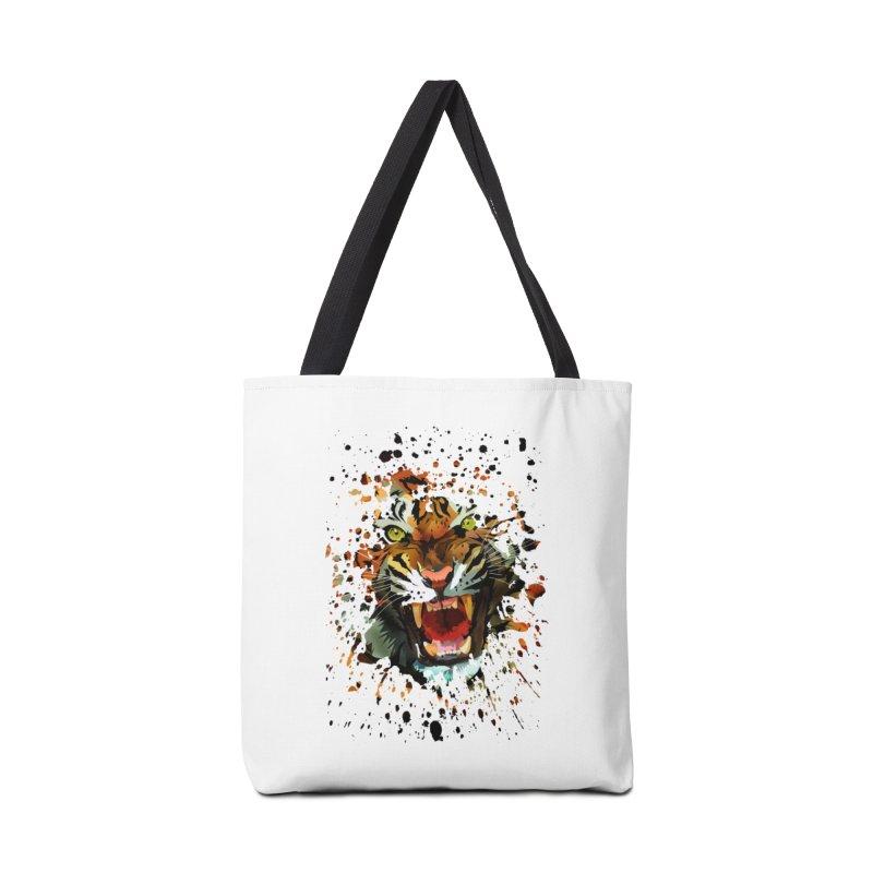 Tiger Roar Accessories Bag by adamzworld's Artist Shop