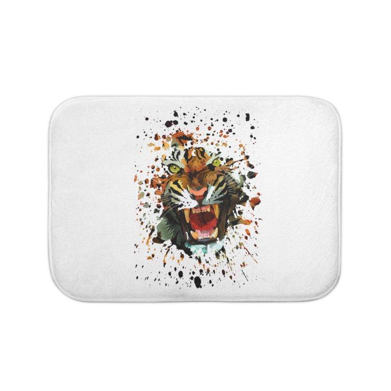 Tiger Roar Home Bath Mat by adamzworld's Artist Shop