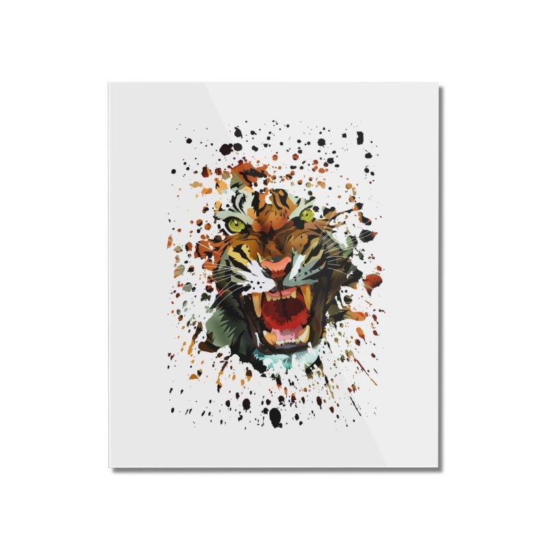 Tiger Roar Home Mounted Acrylic Print by adamzworld's Artist Shop