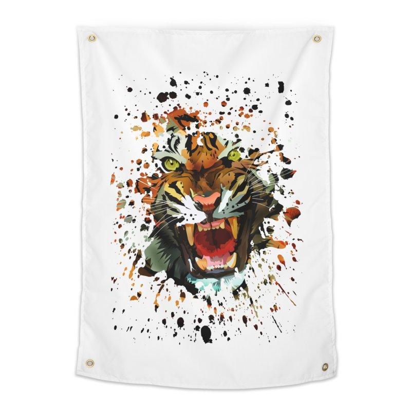 Tiger Roar Home Tapestry by adamzworld's Artist Shop