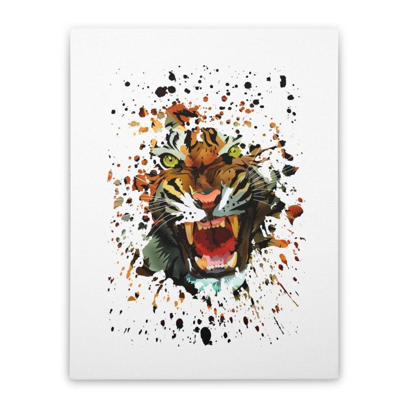 Tiger Roar Home Stretched Canvas by adamzworld's Artist Shop