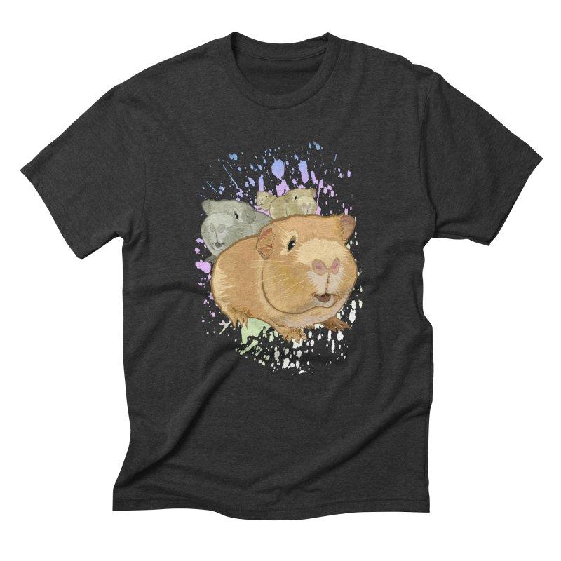 Guinea Pigs Men's Triblend T-shirt by adamzworld's Artist Shop