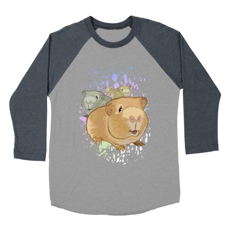 Guinea Pigs Women's Baseball Triblend T-Shirt by adamzworld's Artist Shop