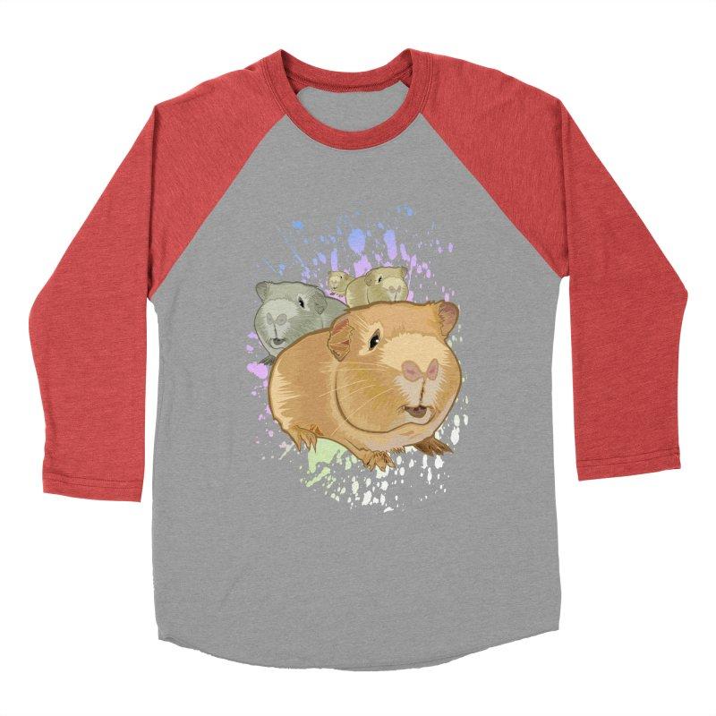 Guinea Pigs Men's Baseball Triblend T-Shirt by adamzworld's Artist Shop