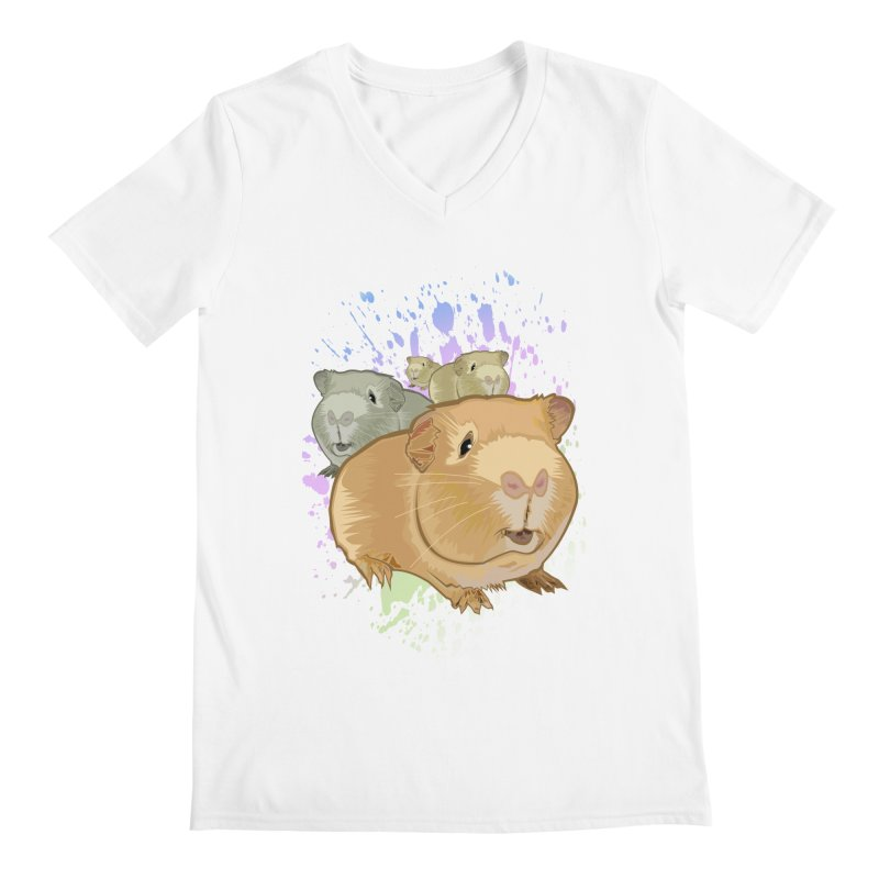 Guinea Pigs Men's V-Neck by adamzworld's Artist Shop