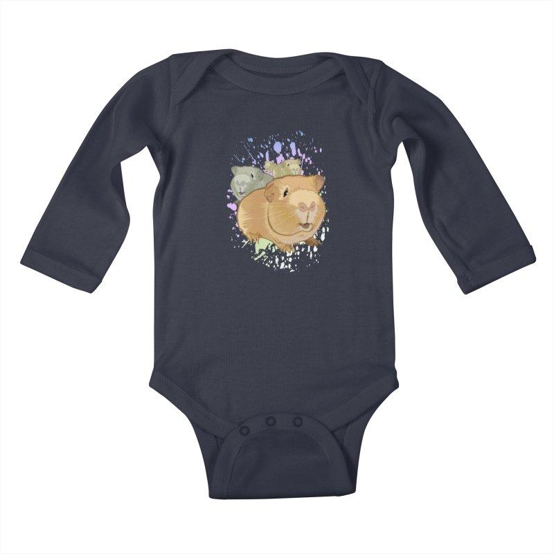 Guinea Pigs Kids Baby Longsleeve Bodysuit by adamzworld's Artist Shop