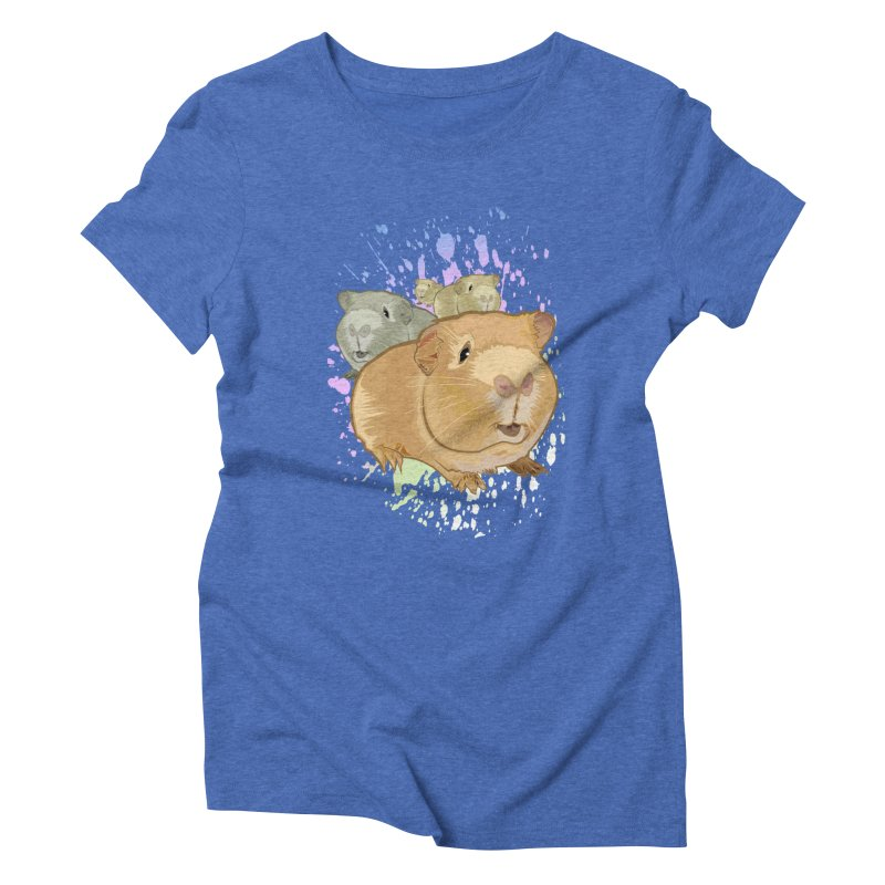 Guinea Pigs Women's Triblend T-shirt by adamzworld's Artist Shop