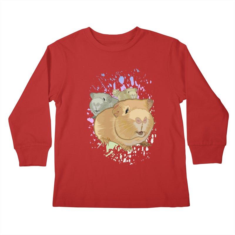 Guinea Pigs Kids Longsleeve T-Shirt by adamzworld's Artist Shop