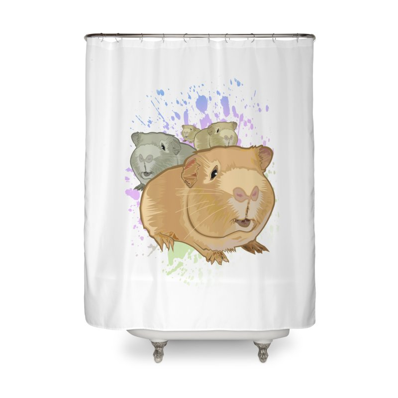 Guinea Pigs Home Shower Curtain by adamzworld's Artist Shop