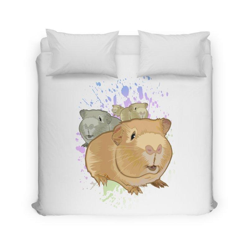 Guinea Pigs Home Duvet by adamzworld's Artist Shop