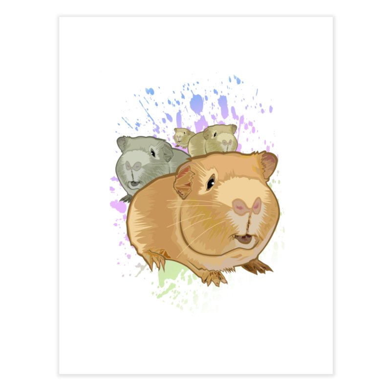 Guinea Pigs Home Fine Art Print by adamzworld's Artist Shop