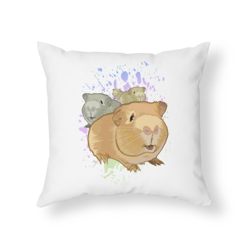 Guinea Pigs Home Throw Pillow by adamzworld's Artist Shop