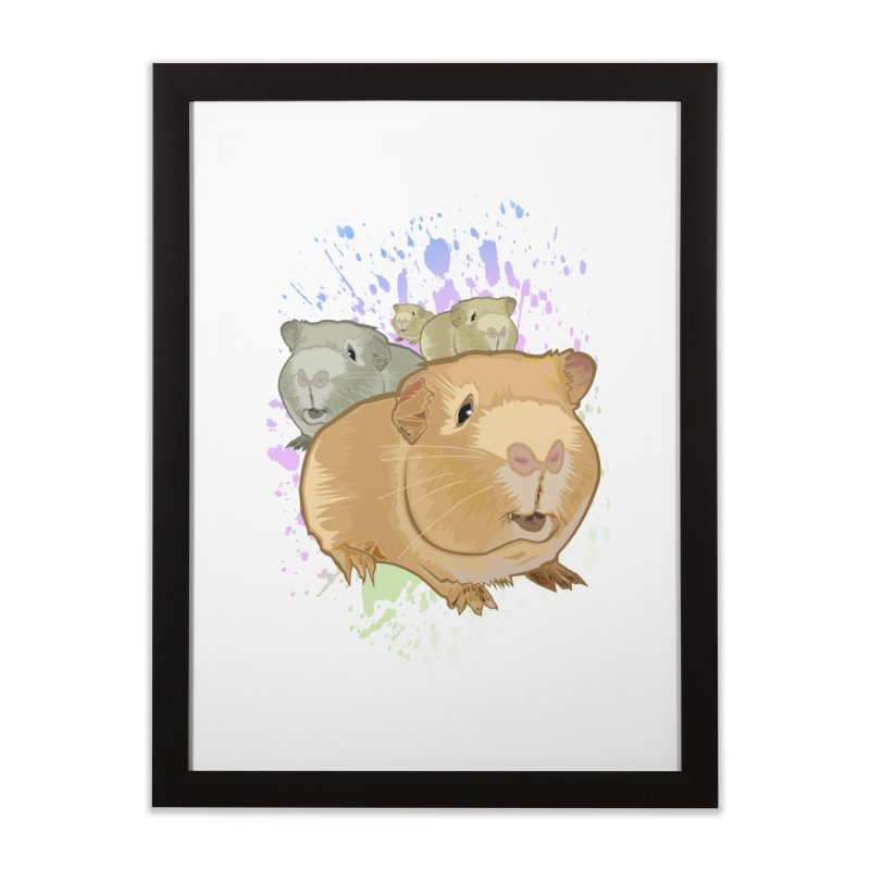 Guinea Pigs Home Framed Fine Art Print by adamzworld's Artist Shop