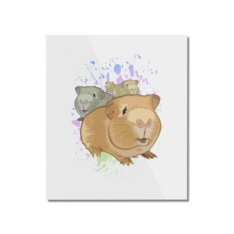 Guinea Pigs Home Mounted Acrylic Print by adamzworld's Artist Shop