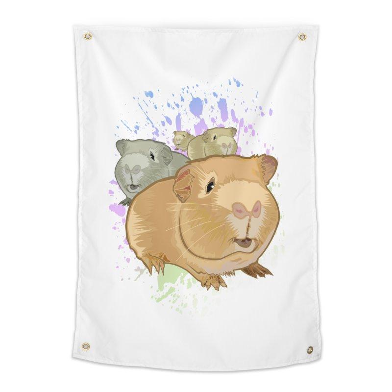 Guinea Pigs Home Tapestry by adamzworld's Artist Shop