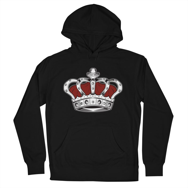 Crown - Red Men's Pullover Hoody by adamzworld's Artist Shop