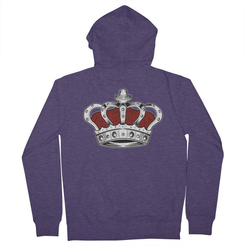 Crown - Red Men's Zip-Up Hoody by adamzworld's Artist Shop