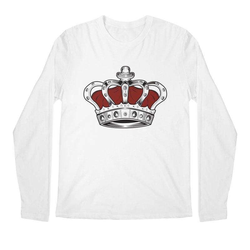 Crown - Red Men's Longsleeve T-Shirt by adamzworld's Artist Shop