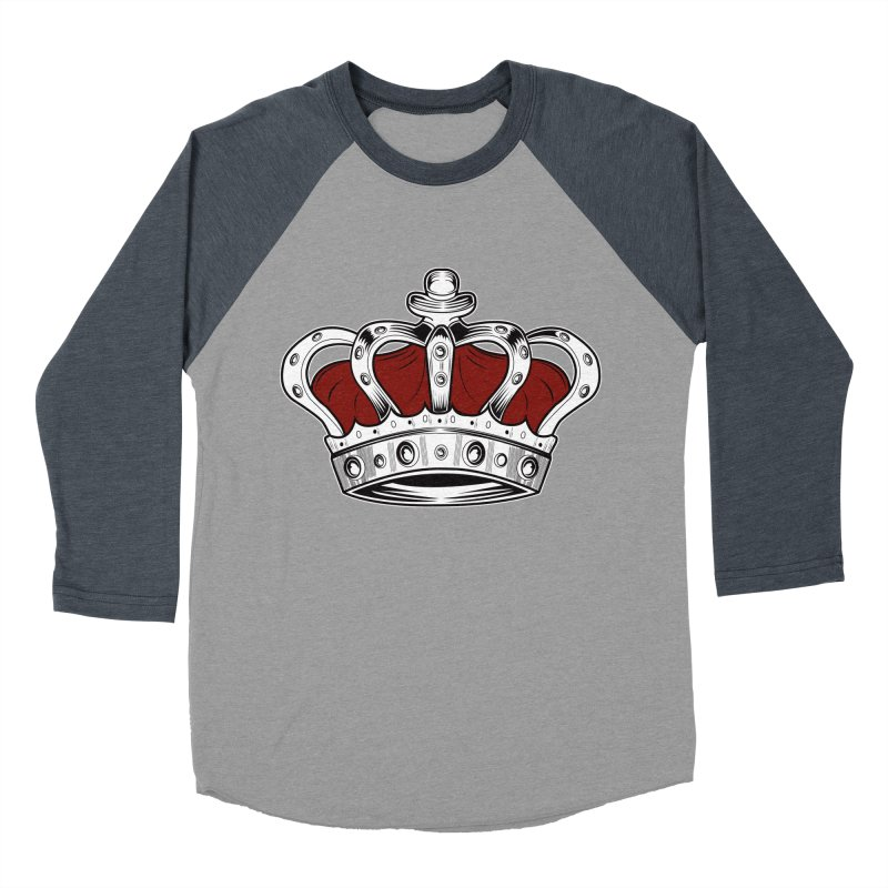 Crown - Red Men's Baseball Triblend T-Shirt by adamzworld's Artist Shop