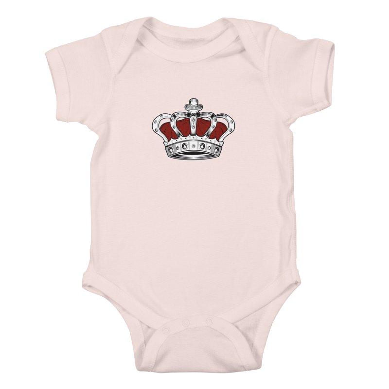 Crown - Red Kids Baby Bodysuit by adamzworld's Artist Shop
