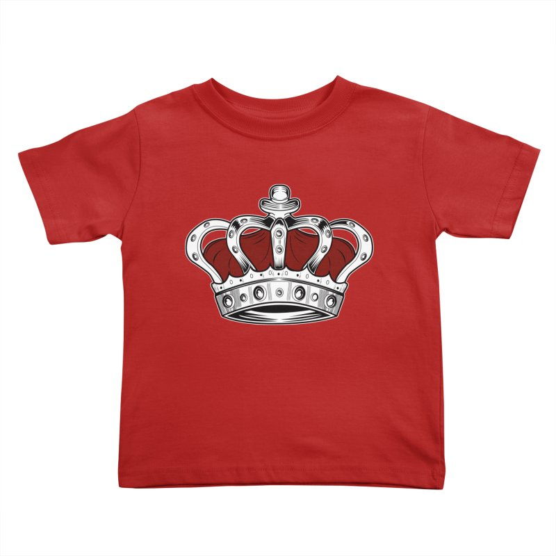 Crown - Red Kids Toddler T-Shirt by adamzworld's Artist Shop