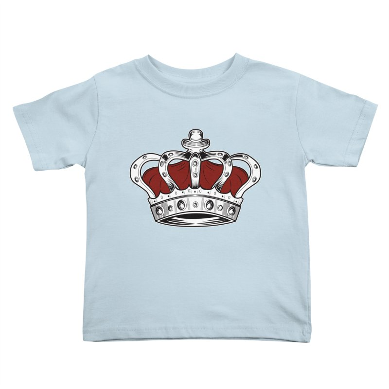 Crown - Red Kids Toddler T-Shirt by adamzworld's Artist Shop