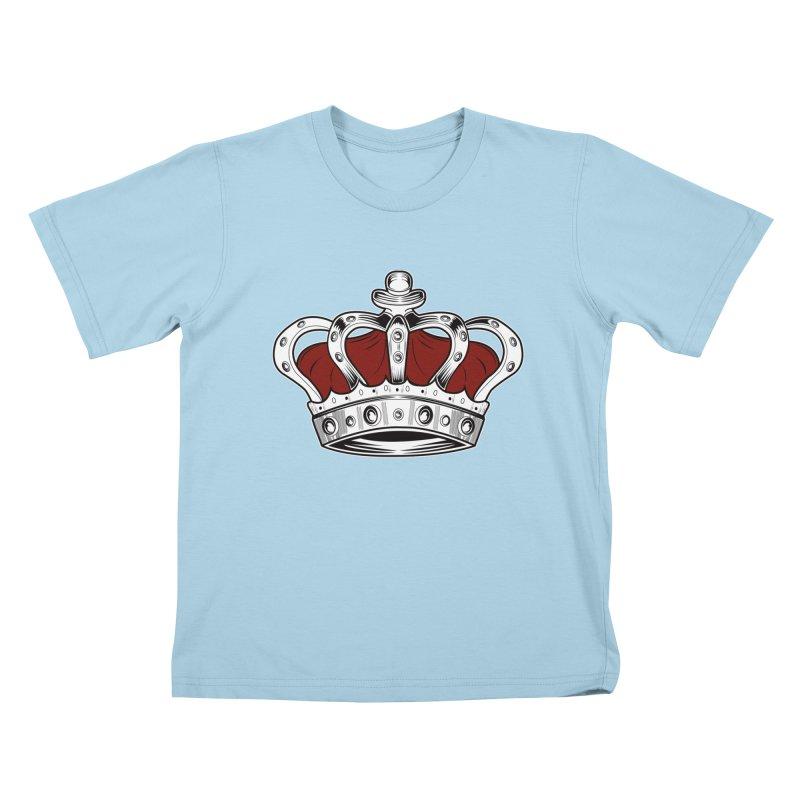 Crown - Red Kids T-shirt by adamzworld's Artist Shop