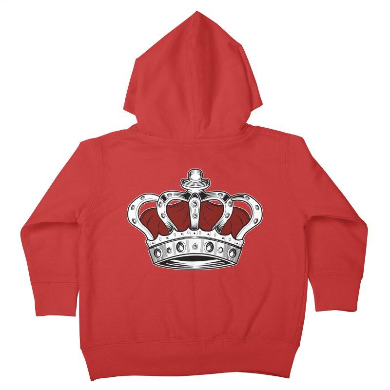 Crown - Red Kids Toddler Zip-Up Hoody by adamzworld's Artist Shop
