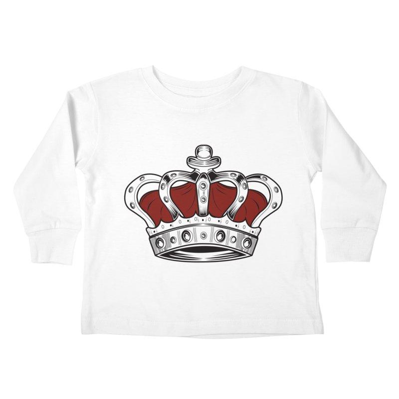 Crown - Red Kids Toddler Longsleeve T-Shirt by adamzworld's Artist Shop