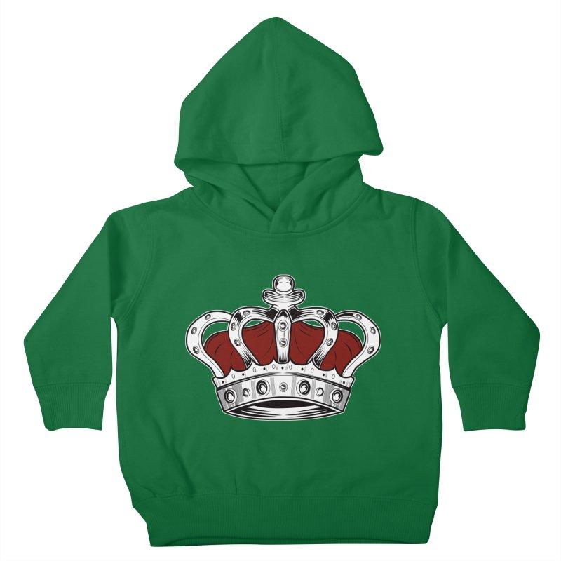 Crown - Red Kids Toddler Pullover Hoody by adamzworld's Artist Shop